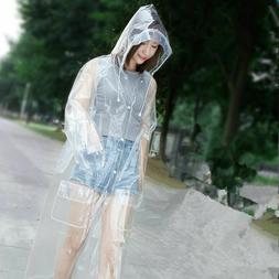 Transparent Long Raincoat Men Women Poncho Rain Gear Travel