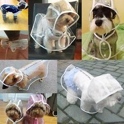 Transparent Pet Rain Coat for Dogs Pet Jacket Cute Casual Wa