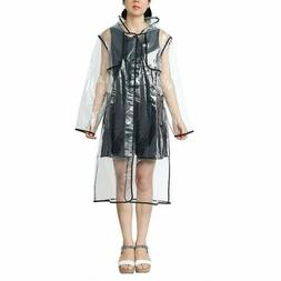 Zicac New Womens Girls' Transparent Raincoat Waterproof Rain