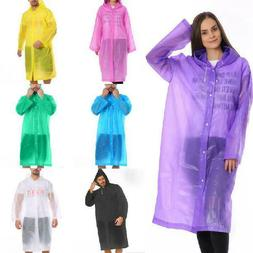 Uni Waterproof Jacket Clear Raincoat Rain Coat Hooded Poncho