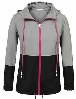 UNibelle Women's Raincoat Waterproof Hooded Rain Jacket Ligh