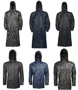 Unisex Long Hooded Waterproof Rain Coats Womens Mens Waterpr