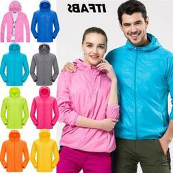 Unisex Womans Men Waterproof Windproof Rain Suit Jacket/Coat