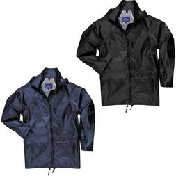 Portwest US440 Classic Rain Jacket, Black/Navy Available, Si