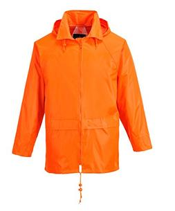 Portwest US440ORRL Classic Rain Jacket, Fabric, L, Orange