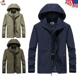 USA Men's Wing Waterproof Breathable Hooded Jacket Outwear S
