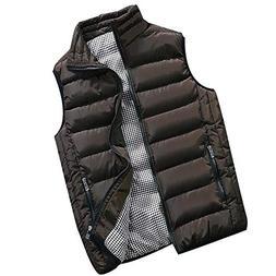 VEZAD Vest Coat Men Autumn Winter Padded Cotton Warm Hooded