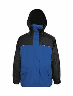 Viking Men's Torrent Waterproof Rain Jacket, Royal Blue/Blac