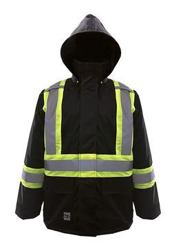 Viking Open Road 150D Hi-Vis Waterproof Rain Jacket, Black,