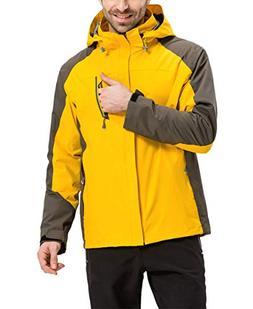 LANBAOSI Men's 3 in 1 Windproof Snowboard Jacket with Detach
