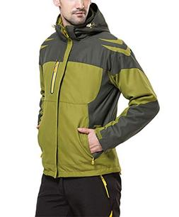 LANBAOSI Men's Warm 3 in 1 Waterproof Hooded Mountain Ski Ja