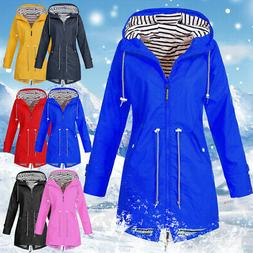 Ladys Long Sleeve Hooded Wind Jacket Lady Outdoor Waterproof
