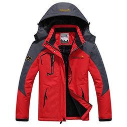 LANBAOSI Men's Water Repellent Mountain Ski Jacket Winter Ho