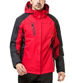LANBAOSI Men Water Resistant 3 in 1 Mountain Ski Jacket Flee