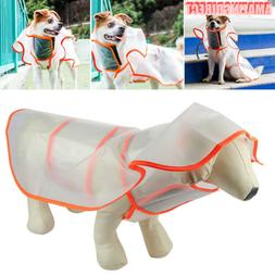 Waterproof Dog Rain Coat Transparent Puppy Clothes Hooded Ja