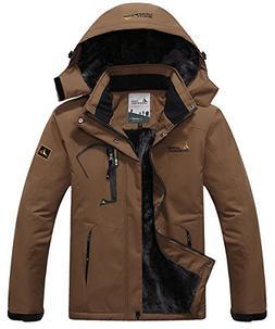 JINSHI Mens Waterproof Insulated Fleece Ski Jacket Windproof