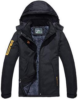 Rdruko Men's Waterproof Ski Jacket Outdoor Windbreaker Fleec