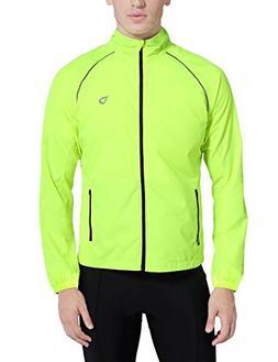 Baleaf Men's Windproof Cycling Windbreaker Jacket Fluorescen