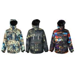 Winter Jacket Men Ski Snowboard Warm Snow Rain Coat for Skii