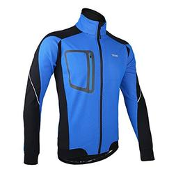 ARSUXEO Winter Thermal Fleece Cycling Jacket Windproof 14D B