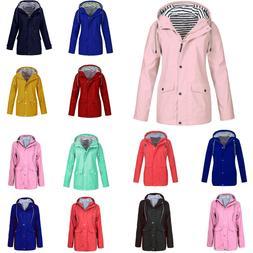 Winter Women Rain Jacket Outdoor Plus Waterproof Hooded Rain