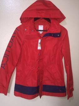 Nautica Woman Red Rainjacket Size:SMALL MSRP:$119.50 NWT FRE