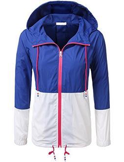 SoTeer Women's Lightweight Packable Outdoor Coat Windproof H