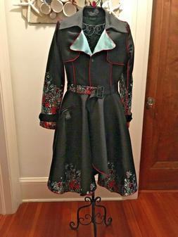 UBU WOMEN CLOTHING RAIN COAT JACKET REVERSIBLE SIZE XSM SEE