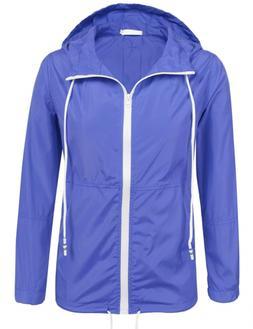 SoTeer Women Lightweight Hooded Jacket Waterproof Windbreake