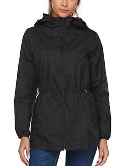 Beyove Women Lightweight Rain Jacket Hooded Waterproof Activ