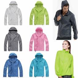 unisex windproof jacket lightweight hooded bicycle coat