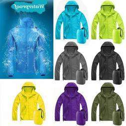 Women Men Waterproof Windproof Jacket Outdoor Portable Bicyc