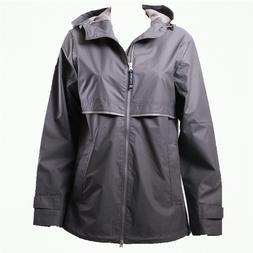 Women Charles River NEW ENGLANDER 5099 Grey Rain Jacket
