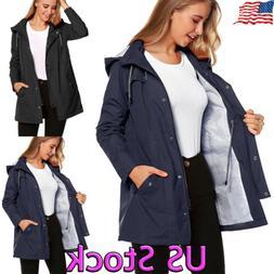 Women Rain Jacket Coats Outdoor Plus Size Waterproof Hooded