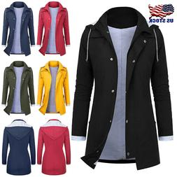 Women Rain Jacket Outdoor Plus Size Waterproof Hooded Rainco