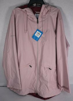 Columbia Women's Arcadia Omni-Tech Pink Rain Jacket Sz 3X $1