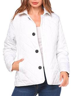 Zeagoo Women's Classic Lightweight Quilted Lined Jacket Barn