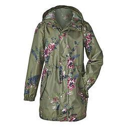 Joules Women's Floral Print Raincoat Rain Jacket Waterproof