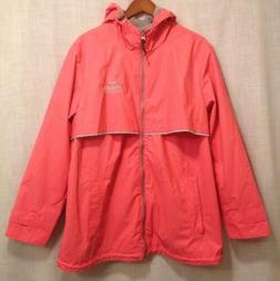 Women's Charles River Apparel For Her Rain Jacket Coat Coral