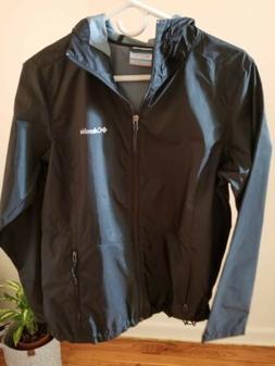 Columbia Women's Hooded Full-Zip Windbreaker/Rain Jacket - B