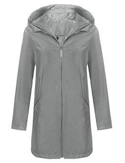 women s hooded outdoor rain jacket lightweight