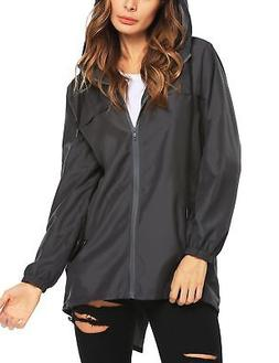 Beyove Women's Hooded Rain Jacket Outerwear Hiking Waterproo