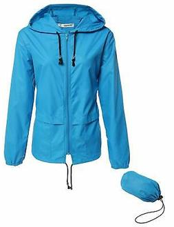 Beyove Women's Lightweight Rain Jacket Active Outdoor Waterp