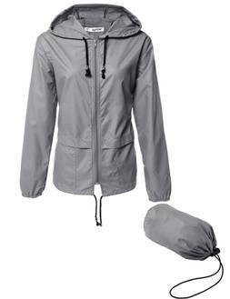 Beyove Women's Lightweight Rain Jacket Active Outdoor Waterp