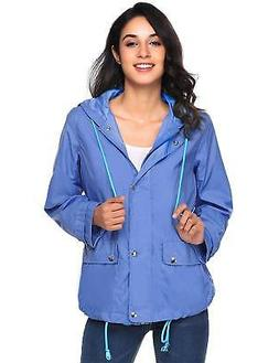 Beyove Women's Lightweight Rain Jacket Waterproof with Hood