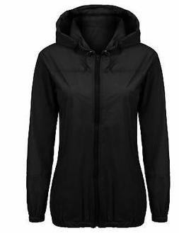 Beyove Women's Lightweight Rain Jacket Waterproof W/ Hood Fa