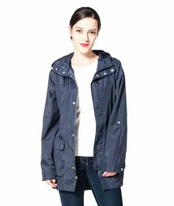 women s lightweight water resistant hooded trench