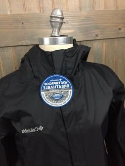Columbia Women's OMNI-TECH Rain Jacket Hooded Full Zip Arcad