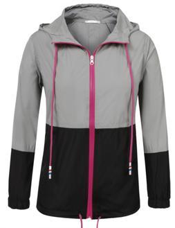 SoTeer Women's Outdoor Rain Jacket Cycling Waterproof Lightw