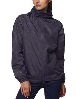 Zeagoo Women's Packable Outdoor Waterproof Hooded Raincoat J